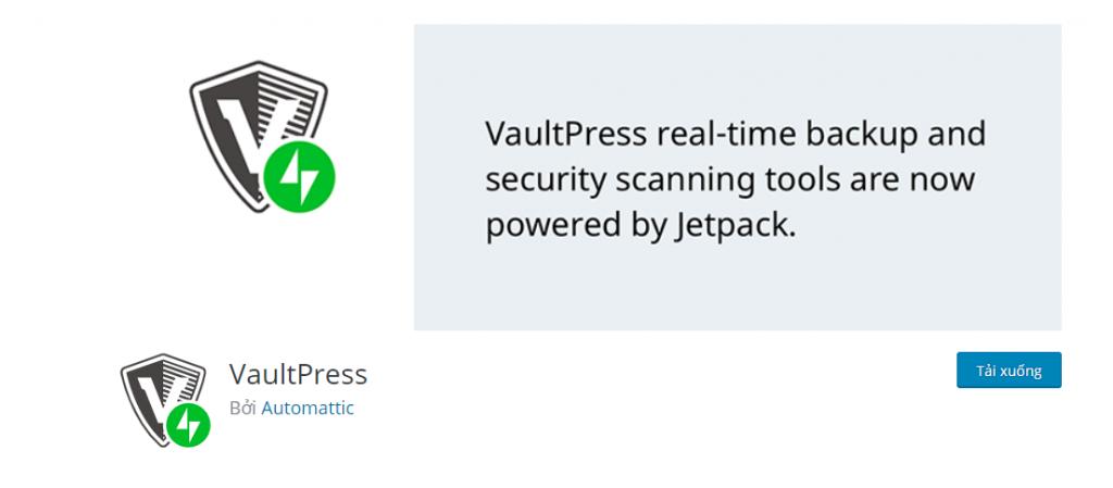 VaultPress Jetpack Backups