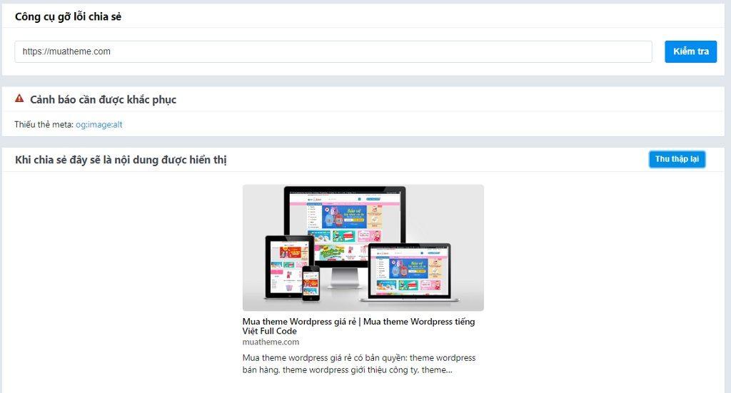 Cần xóa cache hình ảnh và mô tả khi share link trên Zalo