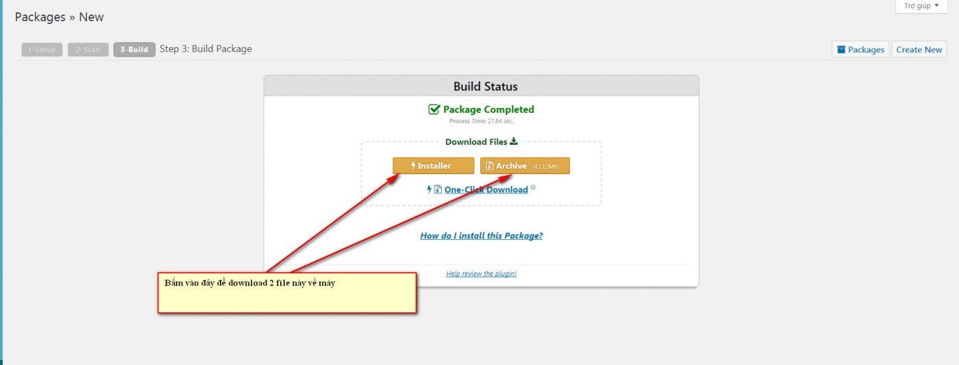 Hướng dẫn sử dụng plugin Duplicator để backup website WordPress